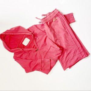 Aeropostale 3/4 sleeve zip up jacket w/shorts